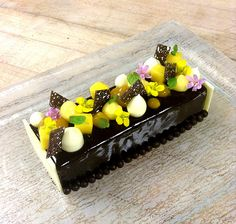 Mango Chocolate  Mousse Bar by Pastry Chef Antonio Bachour (St. Regis Bal Harbour Resort)