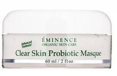 Eminence Clear Skin Probiotic Masque (Acne Prone Skin) helps to calm and clarify the complexion. The cooling cucumber tones and revitalizes while nourishing yogurt works to exfoliate and refine so acne prone skin will glow.
