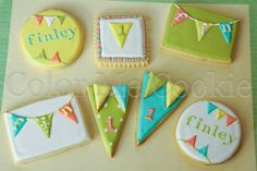 1st birthday cookies ~ by Color Me Cookie  @Amber