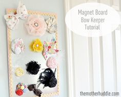 Great way to keep track of hair bows.
