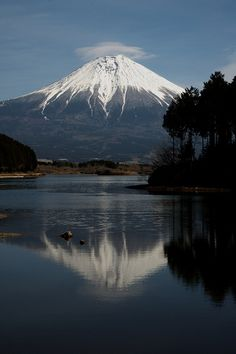Mt.Fuji reflection by peaceful-jp-scenery on Flickr.