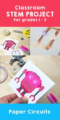 In this mission you will discover everything about electric circuits. In addition, you will make luminous monsters, robots and a greeting card. Stem Projects, Circuit Projects, Science Projects, Stem Activities, Classroom Activities, Activities For Kids, Science Experiments Kids, Science For Kids, Diy Arduino