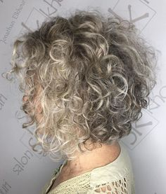 60 Gorgeous Gray Hair Styles Ash Blonde Perm Bob Sure, the bushy perms of the might be out of vo Blonde Curly Hair, Curly Hair Cuts, Short Hair Cuts, Curly Hair Styles, Natural Hair Styles, Ash Blonde, Curly Perm, Perm Hair, Curly Bangs