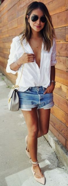 Button up shirt outfit To Look Amazing This Season0201