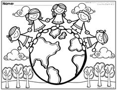 Listening Activities for Common Core~ Listen Up Set 1 Art Drawings For Kids, Easy Drawings, Art For Kids, Bible Coloring Pages, Coloring Pages For Kids, Earth Day Projects, Art Projects, Save Water Drawing, Doodle Frames