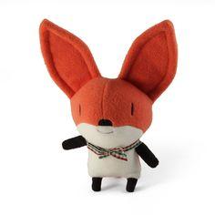 Fox fleece stuffed animal nursery decor toddler toy baby