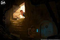 ArtStation - The Secret, Marcin Jakubowski Environment Painting, Environment Concept Art, Spa Studio, The Neighbor, Color Script, Background Drawing, Fantasy Paintings, Digital Paintings, Character Design Animation
