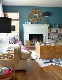 Behr Sophisticated Teal wall color via SG Style
