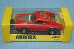 aurora thunderjet 500 slot cars pictures | Aurora Model Motoring Thunderjet 500 Tuff Ones AMX Slot Car #5 Red ...