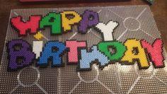 Happy Birthday perler beads
