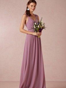 A-line/Princess V-Ausschnitt Floor-length Chiffon Bridesmaid Kleiden