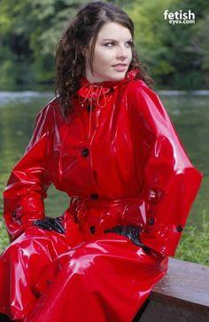 "rainweargirls: ""I love beautyful girls in sexy clothes "" Vinyl Raincoat, Plastic Raincoat, Yellow Raincoat, Imper Pvc, Vinyl Clothing, Rubber Raincoats, Boutique Lingerie, Pvc Coat, Sexy Latex"