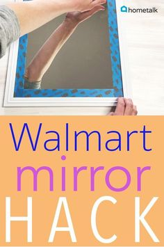 You know those full-length, back-of-the-door mirrors everyone seems to have owned during the College years? Well, those $2 mirrors can be completely transformed into a much more sophisticated look with a little washi tape! This fretwork mirror will give that inexpensive mirror a complete makeover! You'll be happy you saw this!