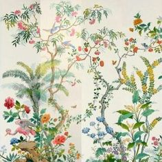 Hand painted wallpaper by Zuber - beautiful colors!