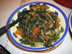 Collard Greens (Sautes With Garlic, Onions, Tomatoes and a splash of vinegar)