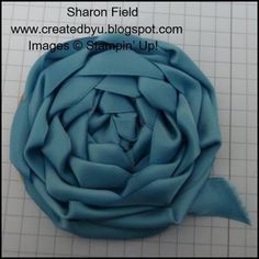 Created By You: Super Saturday Tutorial: Lovely Ribbon Rosettes - cute for headbands - thinking you could use a stiff felt for the base - even sticky felt and then stick to the headband and stick another felt piece on bottom. Ribbon Rosettes, Diy Ribbon, Ribbon Work, Ribbon Hair, Ribbons, Hair Bows, Felt Flowers, Diy Flowers, Fabric Flowers