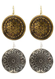 Trades of Hope - These products go beyond helping Indian women escape poverty by providing job training. These accessories help support a school for 165 underprivileged children, many of whom belong to the artisans. They especially target girls to educate, because so often only boys are given an education.   Made in India - Sold as a Set - You get a gold AND silver pair!: