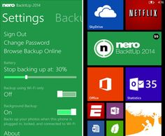 BackItUp app for Windows Phone