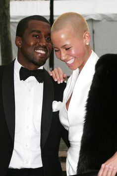 Kanye West and Amber Rose attend the 125th Anniversary Gala at the Metropolitan Opera House