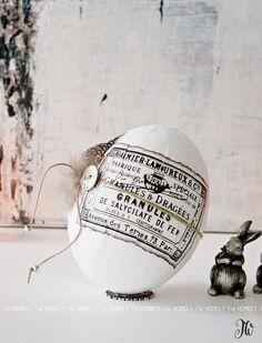 •+Nostalgie-Osterei+•+weiß+10cm+von+Homely+TW+auf+DaWanda.com