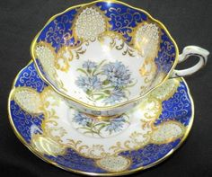 Emperor BLUE SQUARE TEA CUP AND SAUCER