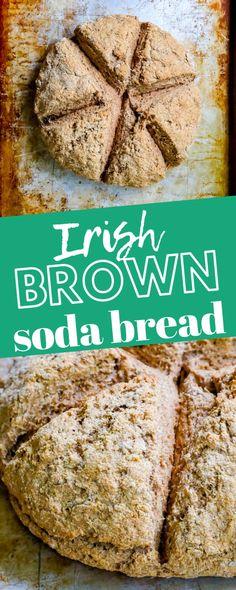 The Best Easy Irish Brown Soda Bread Recipe - breakfast #breakfast #sidedishes Irish Brown Soda Bread Recipe, Irish Brown Bread, Irish Bread, Irish Desserts, Irish Recipes, Asian Desserts, Easy Bread Recipes, Banana Bread Recipes, Baking Recipes