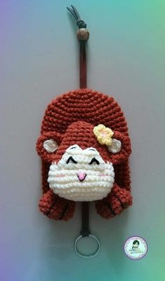 Varanya Chira Crochet Animals, Crochet Toys, Knit Crochet, Crochet Key Cover, Easy Crochet, Amigurumi For Beginners, Crochet Keychain, Key Covers, Crochet Home Decor
