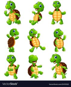 Find Vector illustration of Happy turtle cartoon collection set stock vectors and royalty free photos in HD. Explore millions of stock photos, images, illustrations, and vectors in the Shutterstock creative collection. Cartoon Pics, Cartoon Drawings, Animal Drawings, Cartoon Art, Cute Turtle Drawings, Happy Turtle, Turtle Love, Cute Turtle Cartoon, Turtle Images