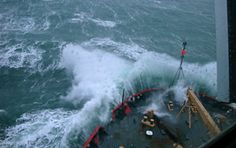 USCGC Healy breaking through the Bering Sea waves. Results of research cruise to Bering, Chukchi and Beaufort seas surprise scientists and may have implications for climate modeling Us Coast Guard, Mission Accomplished, Sea Waves, New Image, Scientists, Seas, Arctic, Modeling, Cruise
