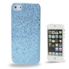 Iphone 5 Cover Blau glitzern (harte Rückseite) von CNP
