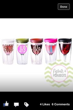 Tervis Tumbler Monogrammed Wine Glass! Yes Please!