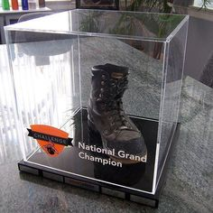 Just because it can't be embedded doesn't mean we can't come up with a kick-ass award! The Boot Award, which is technically a mount, was done for the Annual Stuart Olson challenge, and it's one of the coolest awards we've done, to boot! Custom Awards, Recognition Awards, Case Study, Challenges, Cool Stuff, Ideas, Cool Things, Thoughts