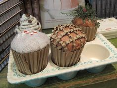 Cardboard cupcakes #anthropologie