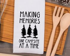 Dish Towels, Tea Towels, Travel Trailer Decor, Travel Trailers, Travel Camper, Camper Quotes, Rv Gifts, Gifts For Campers, Camper Signs
