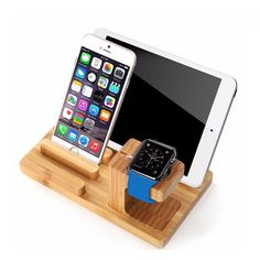 Let this bamboo organizer simplify your life. With enough space to hold an iPhone, Apple Watch, and an iPad, you can keep all of your most important tech in one place. Constructed out of 100% bamboo, this wooden organizer is the perfect gift for your friends and family.