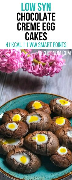 Low Syn Chocolate Creme Egg Cakes | Pinch Of Nom Slimming World Recipes 41 kcal | 1.5 Syns | 1 Weight Watchers Smart Points