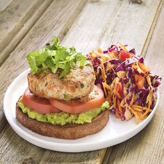 Veggie Turkey Burgers with Skinny Sweet and Tangy Cole Slaw by Chef'd Partner Skinny Ms. (Dinner for 4) * Click image for more details.
