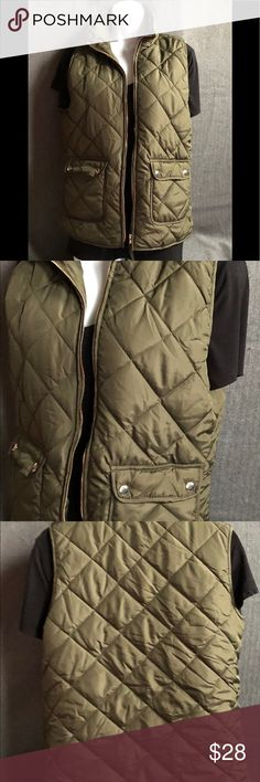 Puffer Vest Olive green puffer best, never worn. Great for the upcoming fall and winter months. Thread & Supply Jackets & Coats Vests