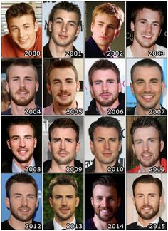 The Evolution of: Chris Evans And yet again we have the fact that men get even more handsome with age...
