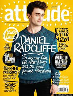 Photographer Greg Vaughan's shot of Daniel Radcliffe for Attitude magazine