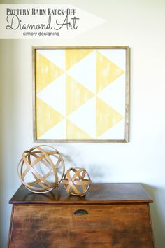 PB Knock-Off Diamond Art   you'll be amazed at how simple this is to recreate for a fraction of the cost! Come and check it out, and pin for later!   #knockoff #knockoffdecor #wallart #homedecor #pbknockoff