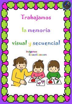 Ejercicios memoria visual y secuencial - Imagenes Educativas Bingo, Community Helpers, Math Centers, Acting, Activities, How To Plan, Education, Comics, Control