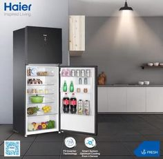 Electricity voltage fluctuation or low voltage not an issue any more. Keep your food fresh and cool even at Haier Pakistan Banner Online, Best Refrigerator, Freezers, Postcard Template, Food Fresh, Cool Stuff, Stuff To Buy, Pakistan, Locker Storage