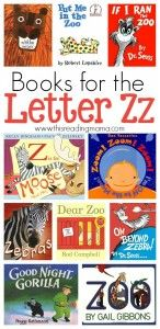 Alphabet activities: Letter Z Book List compiled by This Reading Mama