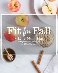 Fit for Fall 7-Day Meal Plan with 21 Healthy Recipes #cleaneating #glutenfree #wholefoods