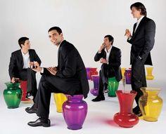 Philippe Starck - La Boheme 3 stool (red) for Kartell
