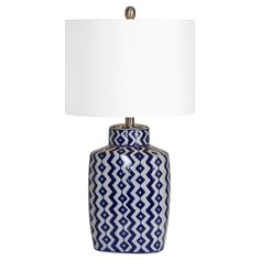 Ren Wil Beryl Single-light Blue Porcelain Table Lamp   Overstock.com Shopping - The Best Deals on Table Lamps
