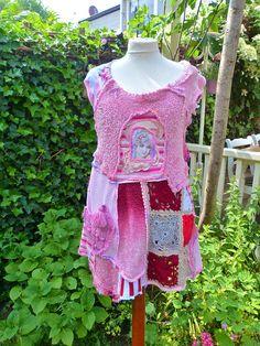 Shirt Dress  Romantic pink by lodicha on Etsy