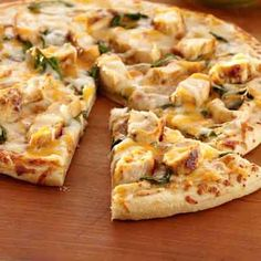 Pizza night is made easy with this flavorful chicken and two cheese pizza.