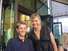 A young #Tomic with Sharapova - Australian Open #tennis #ausopen